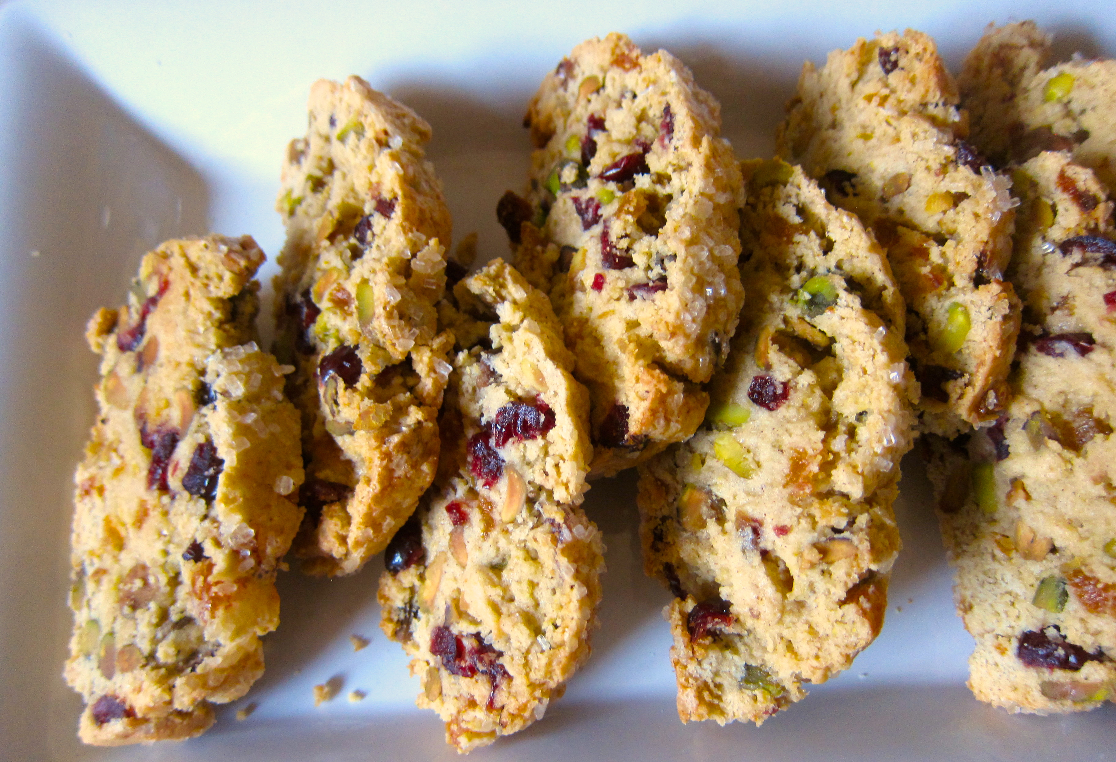 Cranberry Pistachio Biscotti | The Thankful Heart