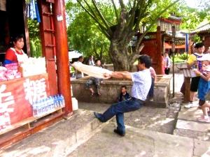 Back in Lijang-- taffy puller